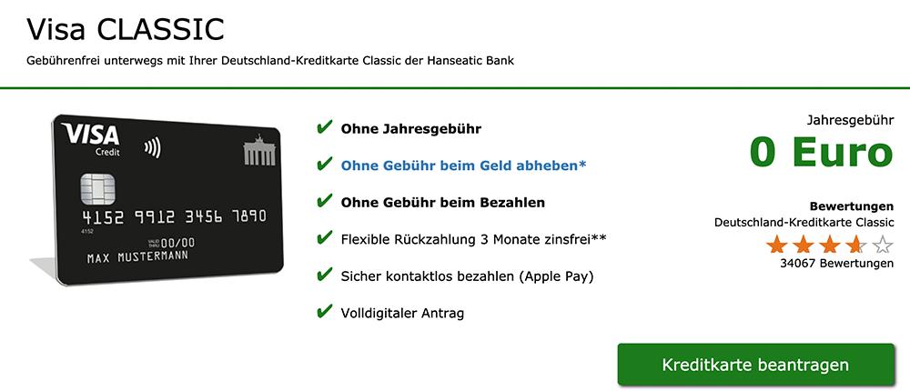 Effektiver Jahreszins Kreditkarte
